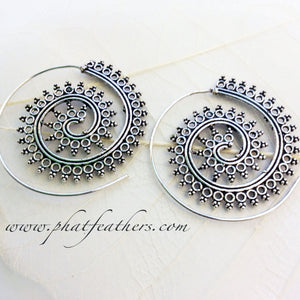 Spikey Spiral Earrings