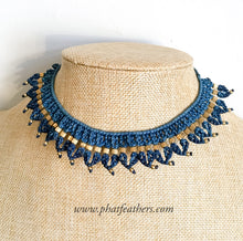 Load image into Gallery viewer, Macrame Choker Necklace