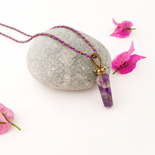 Load image into Gallery viewer, Pendulum Amethyst Necklace