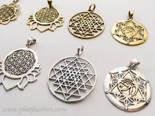 Load image into Gallery viewer, Sacred Geometry Brass Pendants