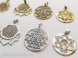 Sacred Geometry Brass Pendants
