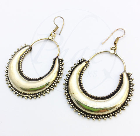 Big Brass Hoop Earrings