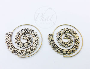 Big Intricate Spiral Earrings