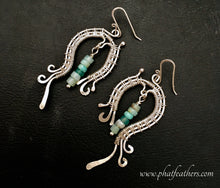 Load image into Gallery viewer, Peruvian Blue Opal Earrings
