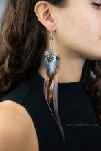 Load image into Gallery viewer, Herkimer Diamond Feather Earrings