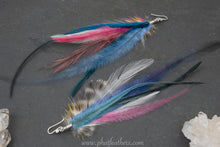 Load image into Gallery viewer, Striped Feather Earrings