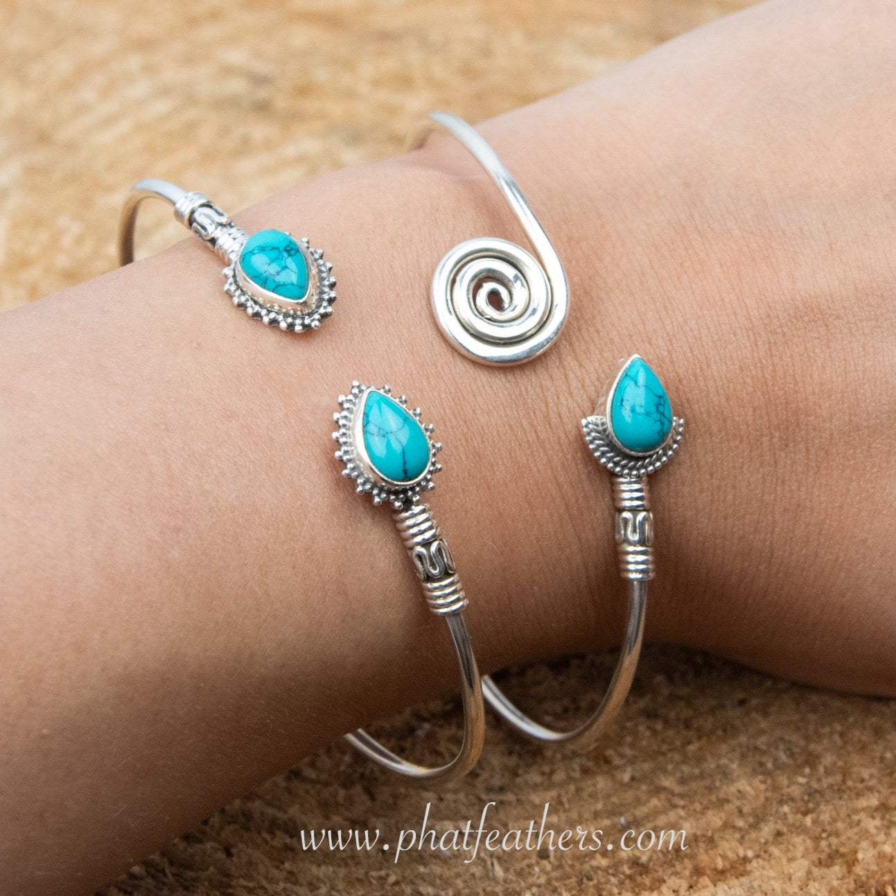 Turquoise Silver Bangle