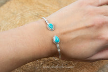 Load image into Gallery viewer, Turquoise Silver Bangle