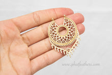 Load image into Gallery viewer, Dreamcatcher Brass Earrings