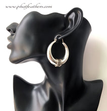 Load image into Gallery viewer, Chunky Silver Hoops