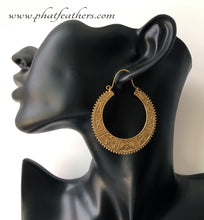 Load image into Gallery viewer, Tuareg Tribe Inspired Hoop Earrings