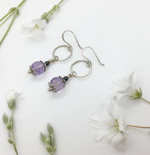 Load image into Gallery viewer, Amethyst Silver Earrings