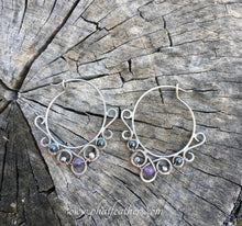 Load image into Gallery viewer, Delicate Silver Hoops