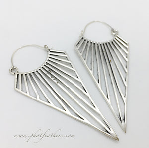 XL Triangle Earrings