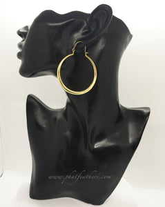 Thin Statement Hoops Brass