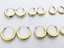 Load image into Gallery viewer, Brass Chunky Hoop Earrings