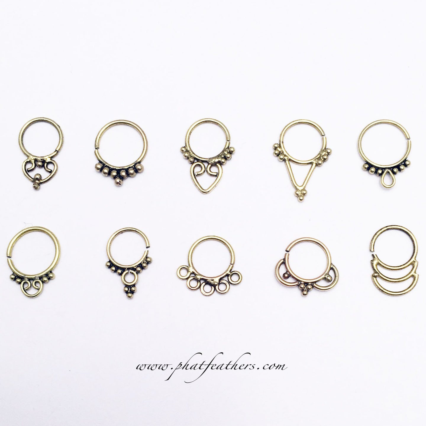 Brass Septum Rings