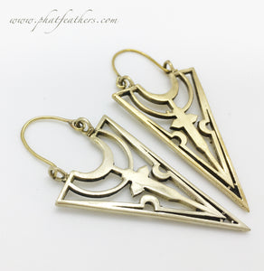 Dagger Cross Earrings