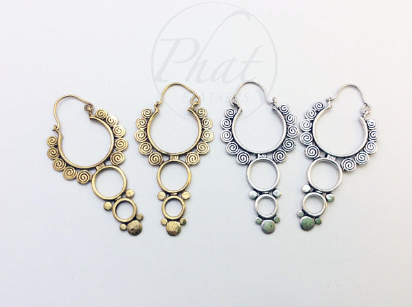 Circular Tribal Hoops