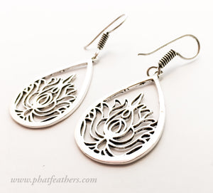 Lotus Pear Earrings