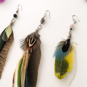 Colorful Feather Earring
