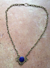 Load image into Gallery viewer, Lapis Lazuli Bronze Pendant