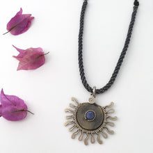Load image into Gallery viewer, Sodalite Sun Necklace