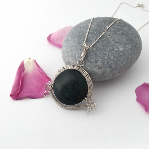 Rainbow Obsidian Necklace