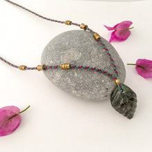 Load image into Gallery viewer, Jade Leaf Necklace