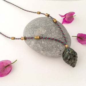 Jade Leaf Necklace