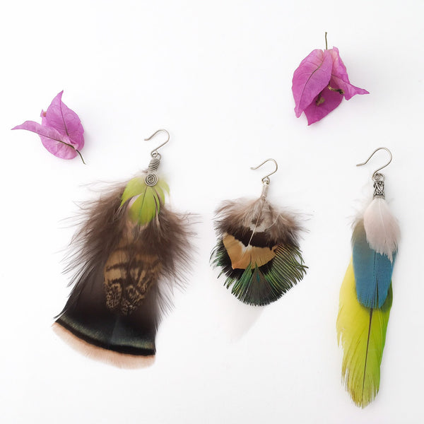 Crueltyfree Feather Earring