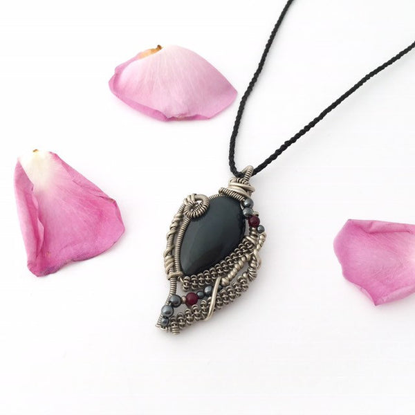 Chunky Obsidian Necklace