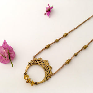 Amber Brass Necklace