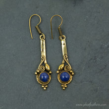 Load image into Gallery viewer, Gemstone Brass Earrings