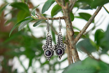Load image into Gallery viewer, Gemstone Silver Plated Earrings
