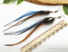 Load image into Gallery viewer, Labradorite Feather Earrings