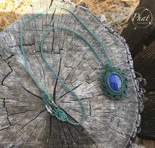 Load image into Gallery viewer, Lapis Wave Necklace
