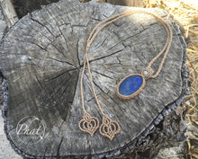 Load image into Gallery viewer, Lapis Lotus Necklace