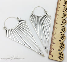 Load image into Gallery viewer, XL Triangle Earrings
