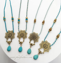 Load image into Gallery viewer, Mini Mandala Flower Necklace