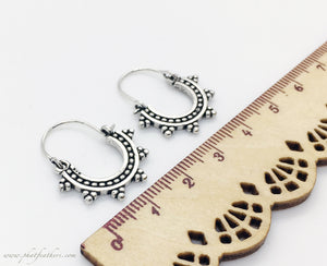 Mini Silver Earrings