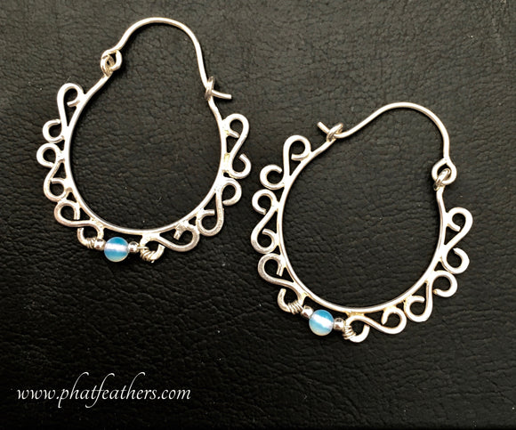 Soldered Silver Hoops