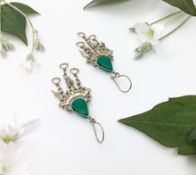 Load image into Gallery viewer, Chrysocolla Birthstone Earrings