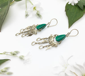 Chrysocolla Birthstone Earrings