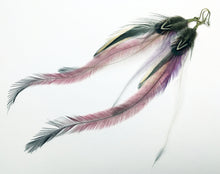 Load image into Gallery viewer, Pretty Pink Feather Earrings