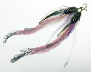 Pretty Pink Feather Earrings