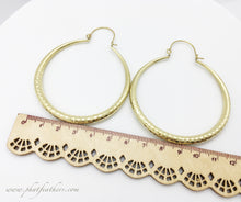 Load image into Gallery viewer, Shimmer Hoops Brass