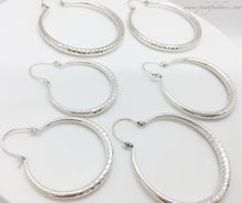 Load image into Gallery viewer, Shimmer Hoops Silver