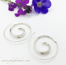 Load image into Gallery viewer, Sterling Silver Spiral Earrings
