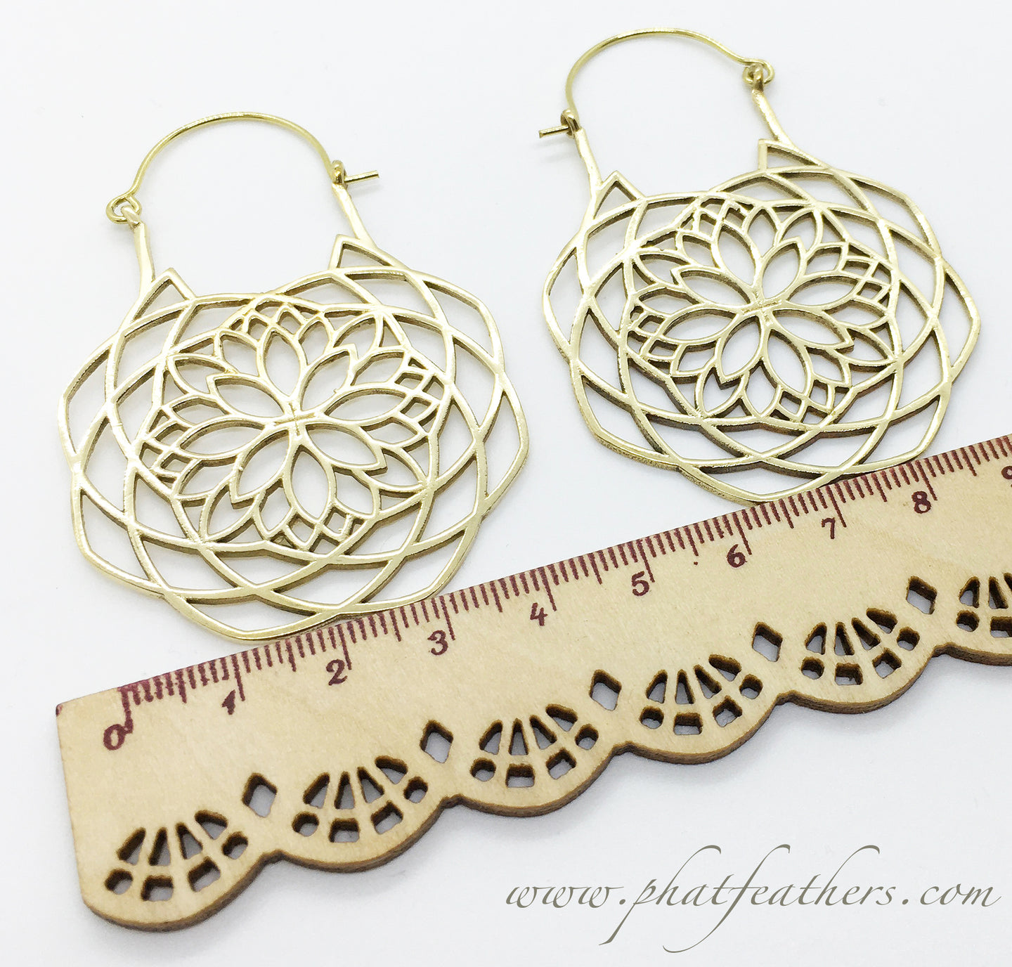 Big Snowflake Earrings